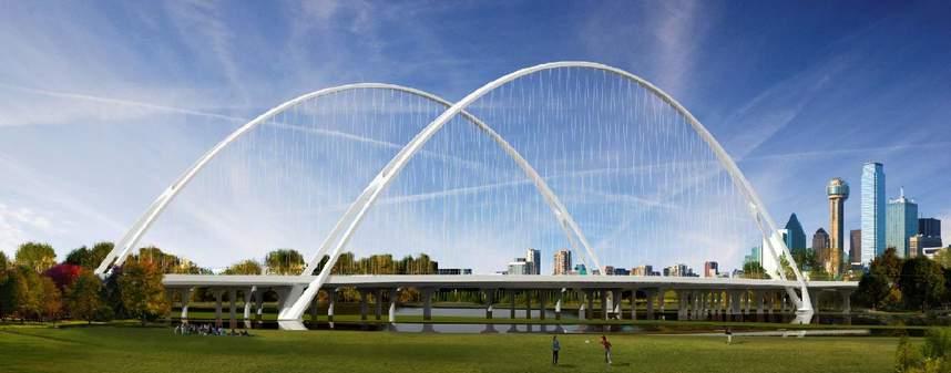 Artist's rendering of completed Margaret McDermott Bridge