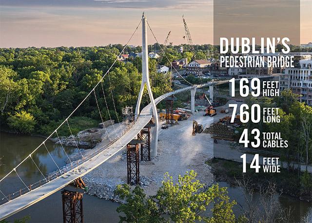 Pedestrian Bridge in Dublin Ohio